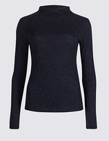 M&S Collection High Neck Long Sleeve T-Shirt