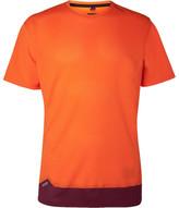 Soar Running - Colour-block Mesh T-shirt - Orange