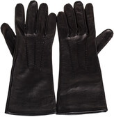 Thumbnail for your product : Burberry Black Leather Short Gloves