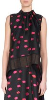 Proenza Schouler Fil Coupé Ikat Dot Sleeveless Tie-Back Top, Multicolor