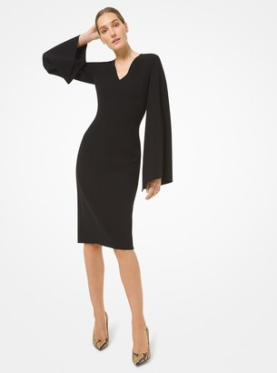 Michael Kors Collection Double Face Stretch Wool Crepe Sheath Dress