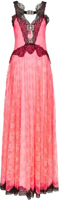 Christopher Kane Contrast-Lace Maxi Dress