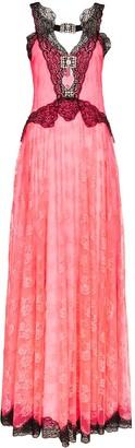 Christopher Kane Contrast-Lace Maxi Dress
