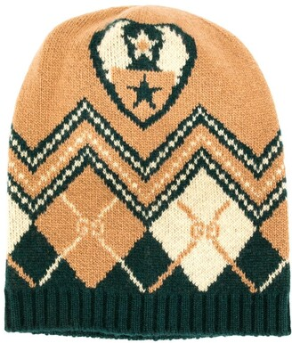 Gucci Kids Intarsia-Knit Wool Beanie Hat