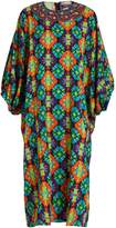 Andrew Gn Geometric-print silk-blend crepe dress