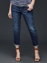 Maternity demi panel best girlfriend jeans