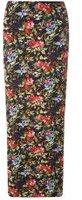 Dorothy Perkins Womens Black Floral Maxi Skirt- Fl Multi