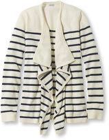 L.L. Bean Women's Classic Cashmere Sweater, Open Cardigan Stripe