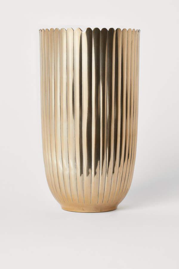 H&M Tall Metal Vase