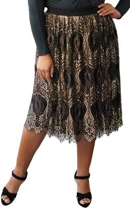 Marée Pour Toi Metallic Lace Skirt