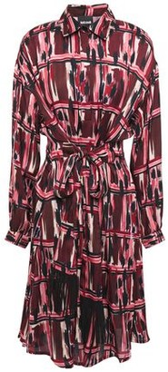 Just Cavalli Belted Printed Cady Shirt Dress