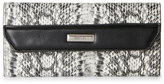 Kenneth Cole Reaction Black & White Lauren Snake-Effect Continental Wallet