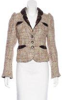Marc Jacobs Velvet-Trimmed Wool Blazer