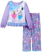 Komar Peanuts Snoopy & Woodstock Pajama Set (Toddler Girls)