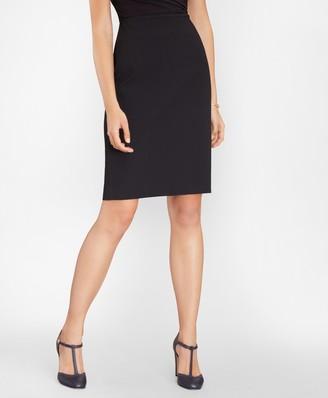 Brooks Brothers Stretch-Cotton Jacquard Pencil Skirt