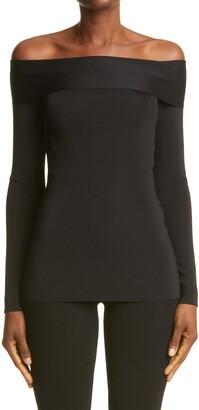Victoria Beckham Off the Shoulder Knit Top