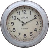 Bed Bath & Beyond Round Metal Clock in Grey