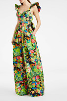 Rosie Assoulin Floral-Print High-Waisted Trousers