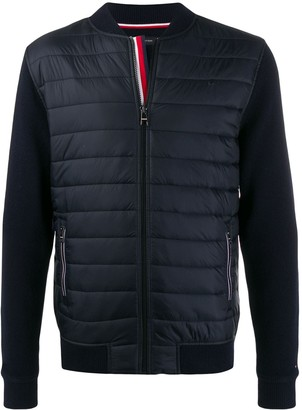 Tommy Hilfiger quilted panel bomber jacket