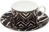 Roberto Cavalli Zebra Set Of 6 Tea Cup & Saucers