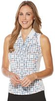 Women's Grand Slam Performance Print Sleeveless Golf Polo