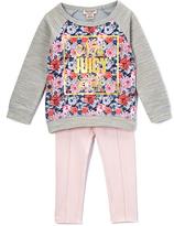 Juicy Couture Gray Floral Raglan Tunic & Leggings - Infant Toddler & Girls