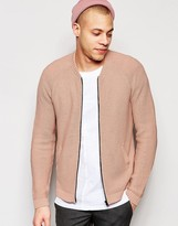 Asos Knitted Bomber in Pink