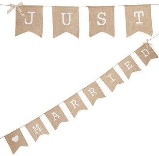 Ginger Ray Just Married Hessian Bunting