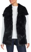 C&C California Faux Fur Long Hemmed Vest