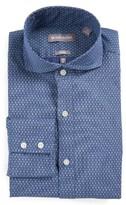 Michael Bastian Men's Trim Fit Diamond Print Dress Shirt