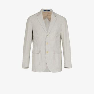 Polo Ralph Lauren Seersucker Striped Cotton Blazer