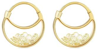Moritz Glik 18kt yellow gold The Purses diamond shaker pave earrings