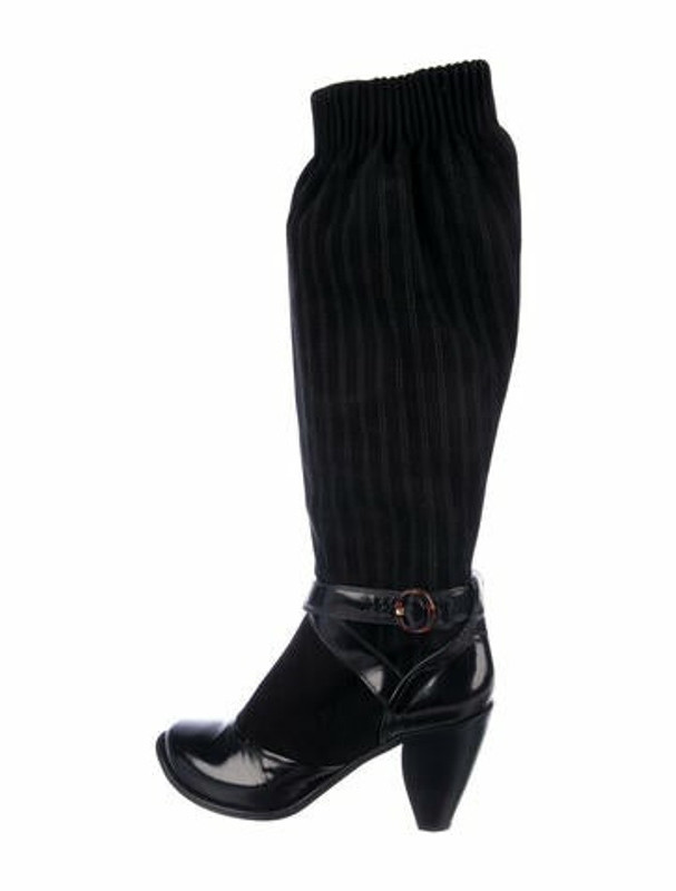 Marc Jacobs Suede Sock Boots Black
