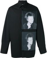 Raf Simons X Robert Mapplethorpe portrait print shirt - men - Cotton/Spandex/Elastane - 46