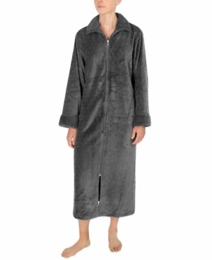 Miss Elaine Sculptured Fleece Long Zipper Robe