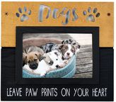 "New View Dogs Leave Paw Prints"" Frame"