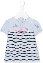 Armani Junior underwater print top - kids - Cotton/Spandex/Elastane - 6 mth