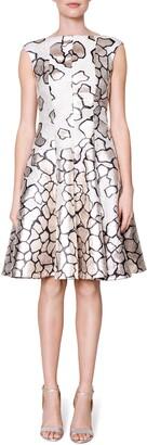 Talbot Runhof Pebble Jacquard A-Line Party Dress & Jacket