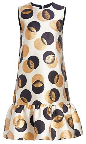Akris Punto Metallic Polka Dot Shift Dress