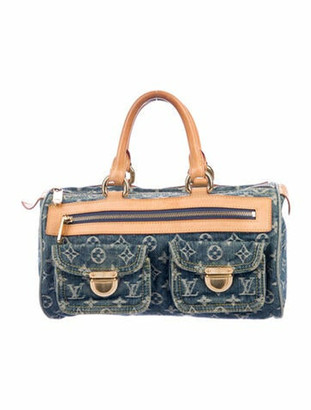 Louis Vuitton Monogram Denim Neo Speedy Blue