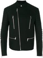 Neil Barrett zipped jacket - men - Spandex/Elastane/Cupro/Viscose/Virgin Wool - L