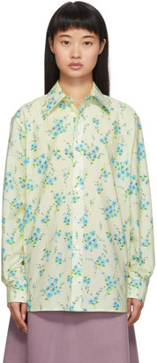 Marc Jacobs Off-White Floral Shirt