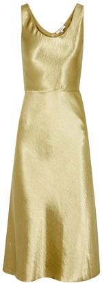Vince Gold Satin Midi Dress