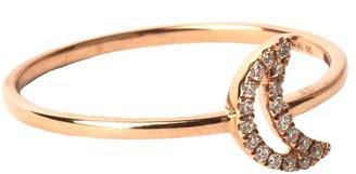 Rosa De La Cruz 18kt Rose Gold Crescent Ring
