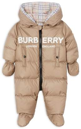 Burberry Kids Hooded Puffer All-In-One