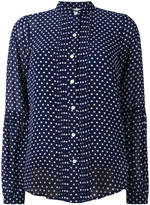 Michael Kors polka dot sheer shirt