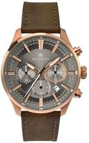 Accurist Men's Brown Leather Strap Chronograph Watch