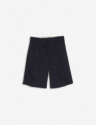 Gucci Cat-embroidered stretch-cotton shorts 4 years