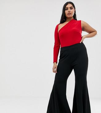 Club L London Plus flared trouser in black
