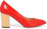 Charlotte Olympia Liz Leather Pumps - Red